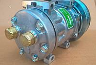 Компрессор кондиционера CL 7H15 фирмы Clove для комбайнов и тракторов Case и New Holand