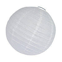 Бумажный фонарь, белого цвета, диаметр 25 см.
