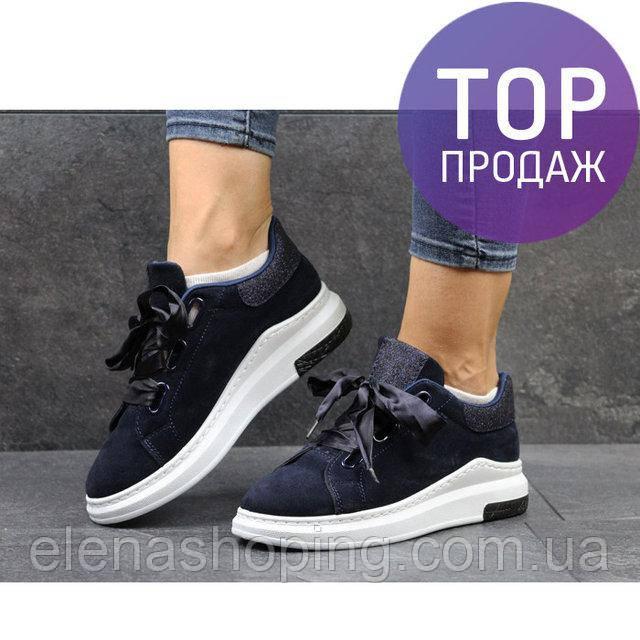 c38af4654 Стильные синие женские кроссовки с ленточкой (р36-37): продажа, цена ...