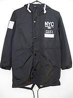 Стильная подростковая демисезонная куртка Best Boy NYC черного цвета