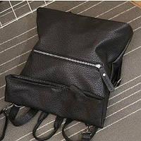 Молодежная сумка-рюкзак из экокожи.