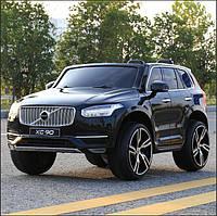 2X местный электромобиль Volvo XC90 черный лак, кожа, 2 мотора по 45 ватт, усиленный аккумулятор 12В 10А