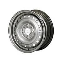Стальные диски Евродиск 64A50C R15 W6 PCD4x100 ET50 DIA60.1 (silver)