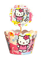 """Топперы для капкейков """"Hello Kitty"""". В упак: 10шт."""