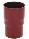 Муфта трубы водосточной системы Бриза (Bryza) 110 мм коричневый