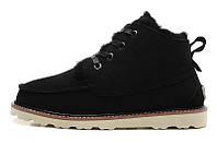Зимние мужские ботинки UGG David Beckham Lace Black, черные замша