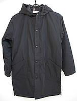 Подростковая утепленная демисезонная куртка для мальчика V-ERIC черного цвета