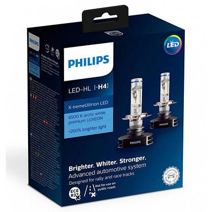 Cветодиодные лампы головного света Philips 12901HPX2 X-tremeUltinon LED для цоколя H4, фото 2
