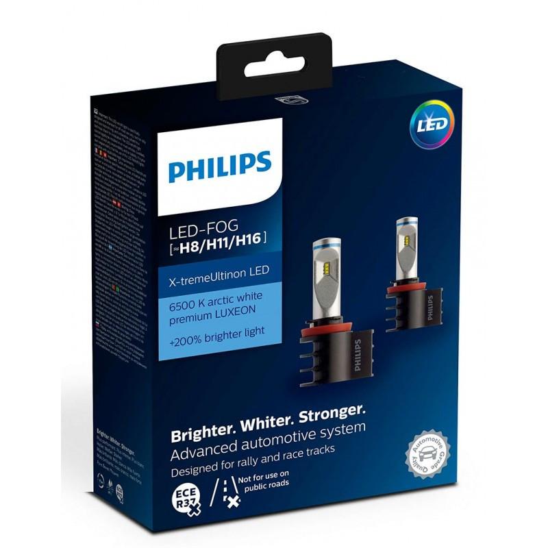 Светодиодные противотуманные лампы Philips 12794UNIX2 X-tremeUltinon LED для цоколей H8, H11, H16