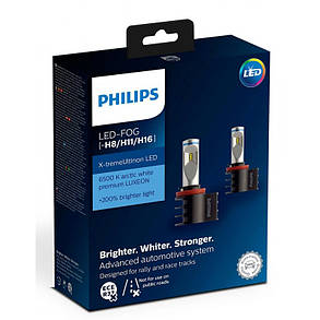 Светодиодные противотуманные лампы Philips 12794UNIX2 X-tremeUltinon LED для цоколей H8, H11, H16, фото 2