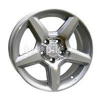 Литые диски Replica Mercedes (ME551) R15 W7 PCD5x112 ET35 DIA66.6 (black machined face)