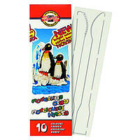 Пластилин K-I-N Пингвин 200г 10 цветов + стеки