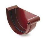 Заглушка желоба правая водосточной системы Бриза (Bryza) 150 мм коричневый