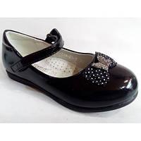 Туфли  для девочек черные лаковые Tom.m  Размеры: 26-31
