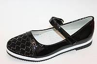 Туфли для девочек черные лаковые Tom.m  Размеры: 32-37