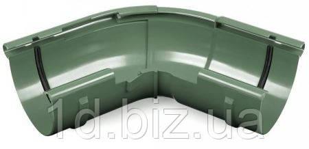 Угол наружный регулируемый 120-145 град., водосточной системы Бриза (Bryza) 125 мм  зеленый