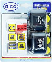 Тройник прикуривателя 3в +2 USB, 12В, 15A ALCA