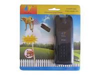 Ультразвуковой карманный отпугиватель собак с фонариком 3 в 1
