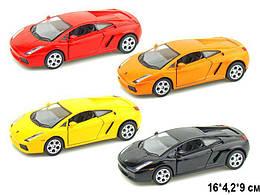 KINSMART Lamborghini Gallardo, метал, инерц., в кор. 16х8х7 /96-4