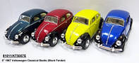 "Модель легковая 5"" KT5057WE Volkswagen Classical Beetle (Black Fender) метал.инерц.откр.дв.кор./96/"