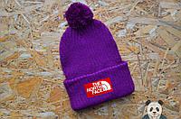Яркая модная шапка мужская The North Face Beanie  с бубоном