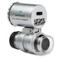 Карманный микроскоп  60X с ультрафиолетовой подсветкой