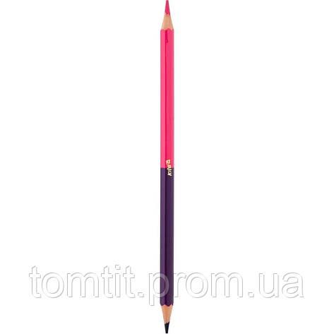 Карандаши  двухсторонние «Антистресс» 12шт/24 цвета, ТМ Kite, фото 2