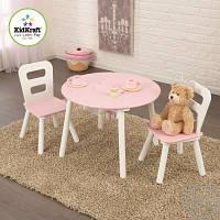 Круглый столик с ящиками и двумя стульями Kidkraft 26165