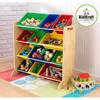 Стеллаж с 12 ящиками для хранения игрушек Kidkraft 16774