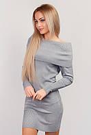 Платье-туника женское теплое AG-0002768 Стальной