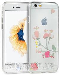 Чехол для мобильного телефона Remax TPU Flower Case Pink для iPhone 6/6S