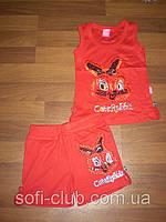 Детская одежда оптом Детский костюм майка шорты для девочек оптом, фото 1