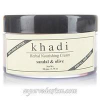 Питательный крем для лица сандал и олива - Khadi cream Sandal and Olive 50 гр