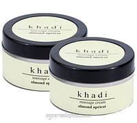 Массажный крем Миндаль и Абрикос Кхади -Khadi Almond & Apricot Massage Cream 50 гр