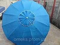 Зонт круглый с клапаном 2,2 м для торговли, отдыха на природе (12 пласт. спиц, цвета в асс.) DJV /N-62