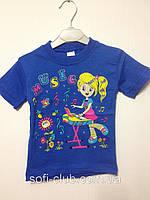 Детская  одежда оптом Футболка для девочек оптом р.1-3лет, фото 1