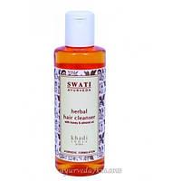 Травяной натуральный шампунь для всех типов волос с мёдом и маслом миндаля, Swati Ayurveda 210 мл