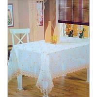 Скатерть прямоугольная с вышивкой 160 х 220 см Verolli Organza, Турция