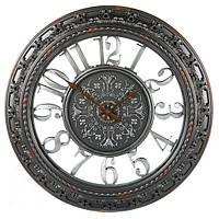 Часы настенные круглые (56 см) серебро состаренное