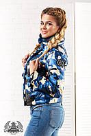 """Женская куртка """" Красный камуфляж """" с плотной плащевки на синтепоне 150, """"НОРМА"""""""