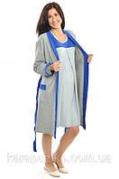 Комплект для беременных и кормящих (ночная рубашка+халат)