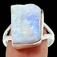 """Серебряный перстень с  натуральным лунным камнем  """"Синий лед"""", размер 19.3  от студии LadyStyle.Biz, фото 1"""