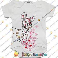 Белый боди Бемби для девочек Рост: 62-68-74-80-86 см (4072-5)