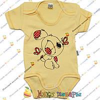 Желтый боди для малышей Рост: 62-68-74-80-86 см (4069-3)