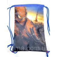 Рюкзак для сменной обуви на шнурках Человек паук