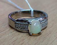 """Оригинальное кольцо с натуральным  опалом """"Банан"""", размер 17.4 , от студии LadyStyle.Biz, фото 1"""