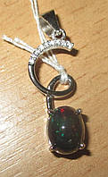 """Яркий кулон с натуральным черным опалом """"Спираль"""" , от студии LadyStyle.Biz, фото 1"""