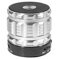 Колонка BL Lesko S-28 серебристая в металлическом корпусе mp3 с функцией карты памяти поддержка Bluetooth