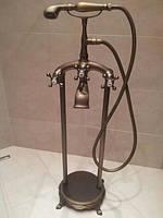 Смеситель для ванной комнаты напольный Omoikiri Retro античная латунь (матовый)