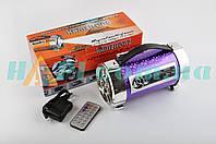 Сабвуфер KAMEILONG   mod:KA-648   (4, хамелеон фиолет., FM/MP3/SD/USB, АКБ+ЗУ, ПДУ, фонарь, ЖКД)